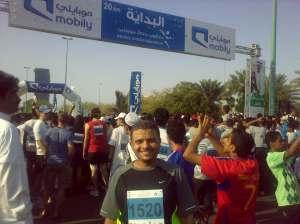 صورة قبل بداية السابق في مارس 2011 حيث شارك 7 الآف