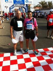 مع عمار الشريف في خط البداية، شارك وأنهى السباق ودعم الحملة